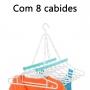 Varal Multiuso 8 Cabides Maxeb