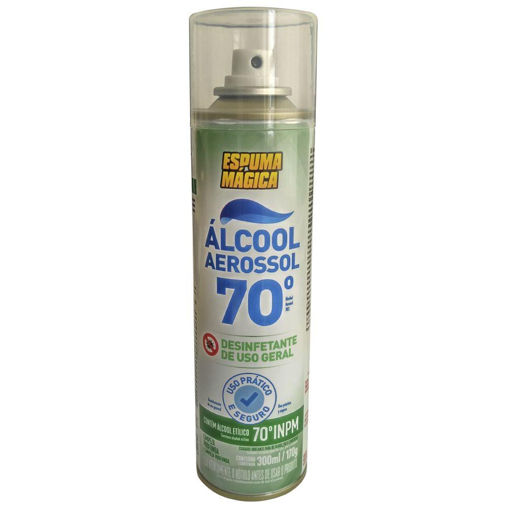 Alcool 70% Aerosol Spray Espuma Magica 300ml