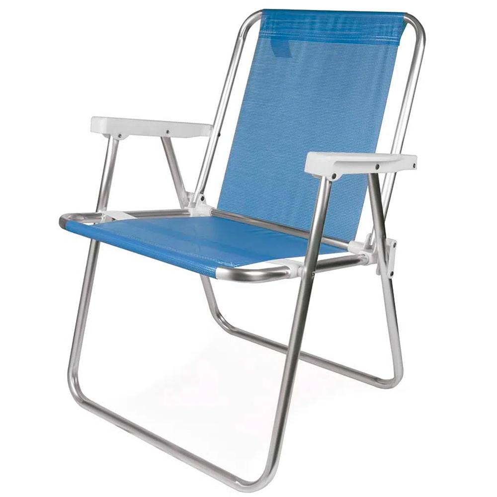 Cadeira de Praia Alumínio Reforçada 110kg Mor
