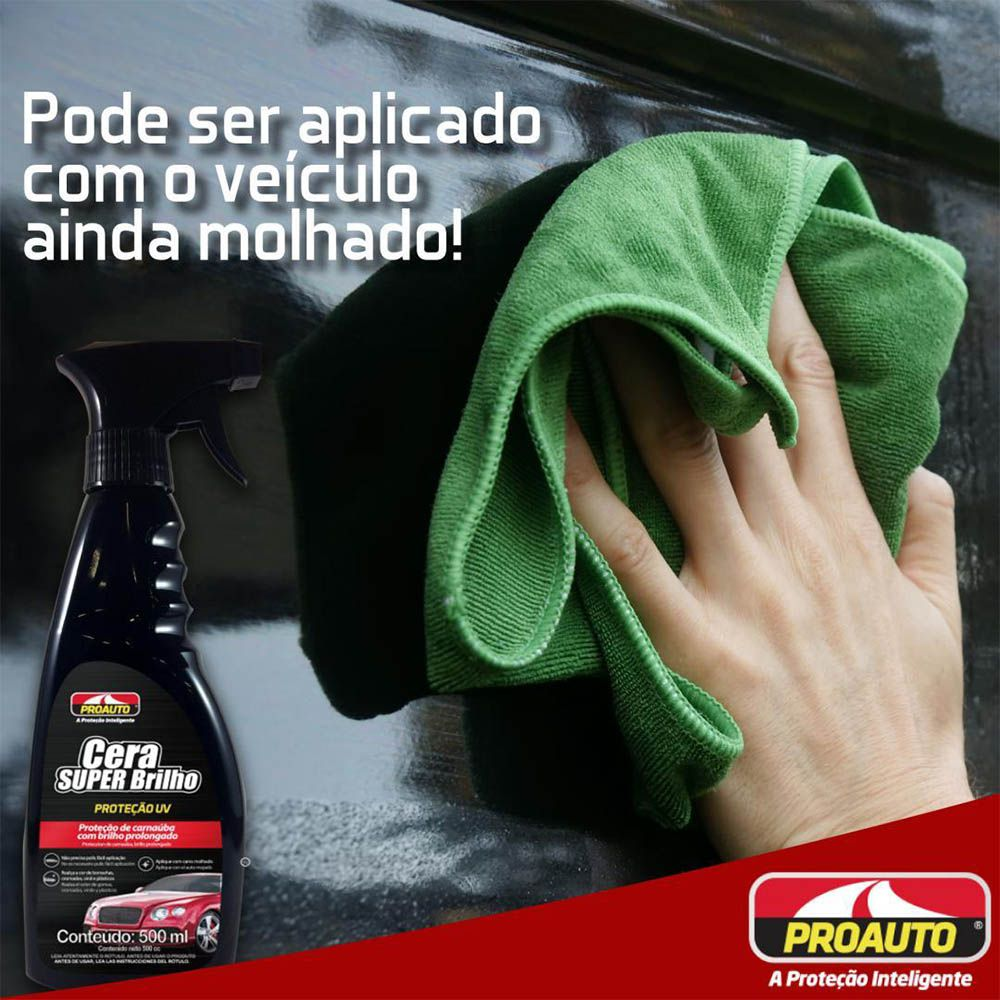 Cera Super Brilho Carnauba Proauto 500ml
