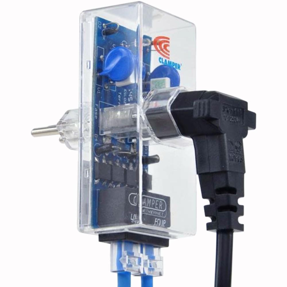 Clamper Protetor Linha Telefônica Rj45 Dps Raios Surtos