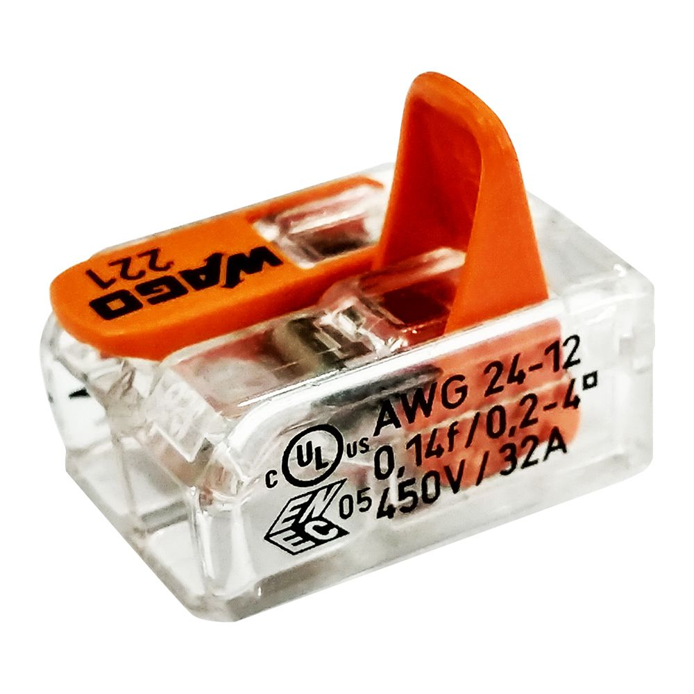 Conector Wago Emenda 2 Fios Mod. 221-412