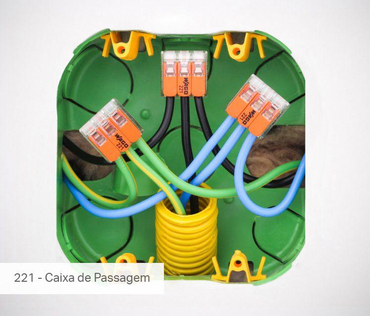 Conector Wago Emenda 3 Fios Mod. 221-613