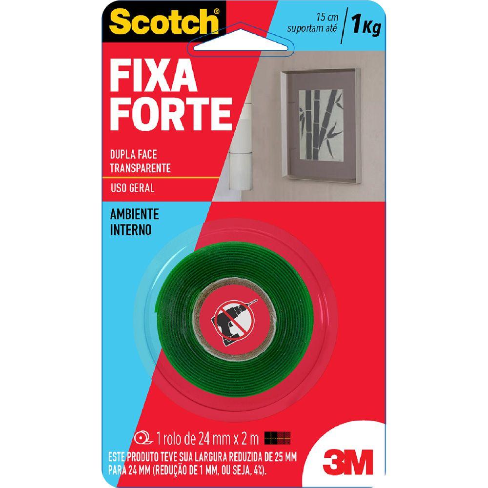Fita Fixa Forte Dupla Face 3M 25mm X 2mt