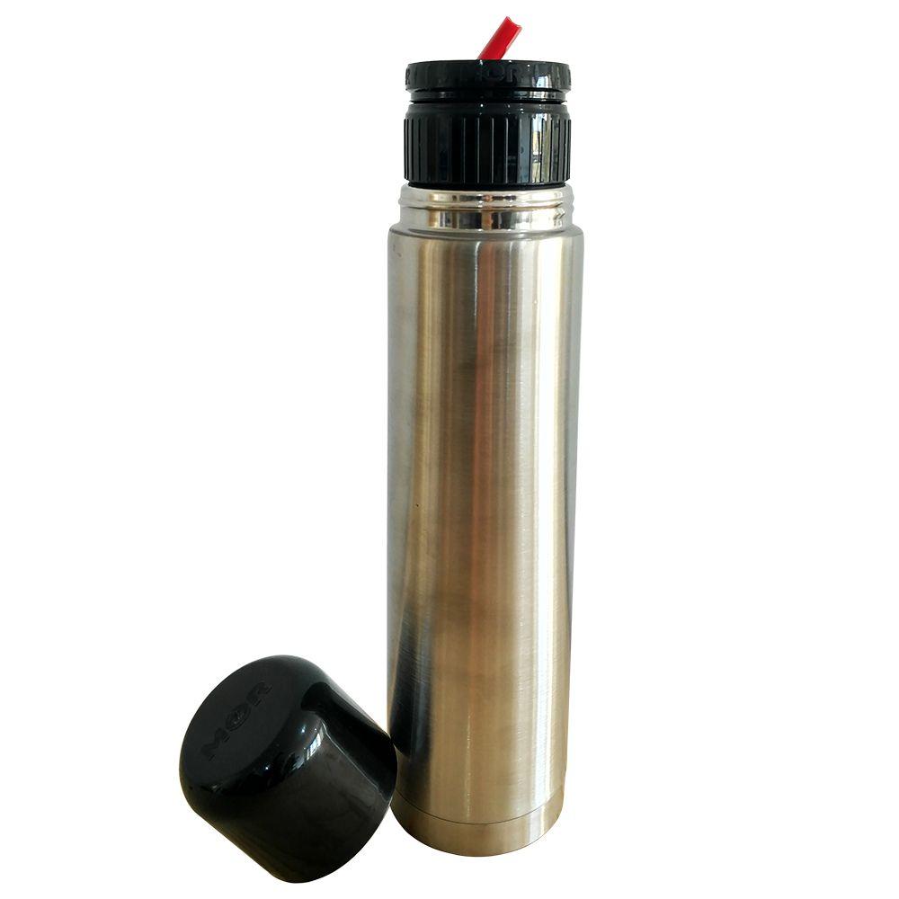 Garrafa Termica Inox Agua Cafe Portatil Fit Mor 1L
