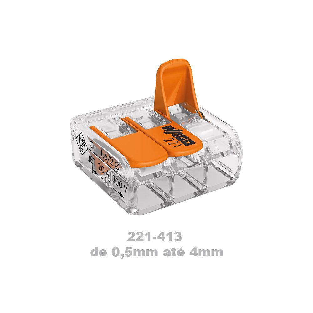 Kit 10 Conector Wago 30un-412 50un-413 58un-415 8un-612