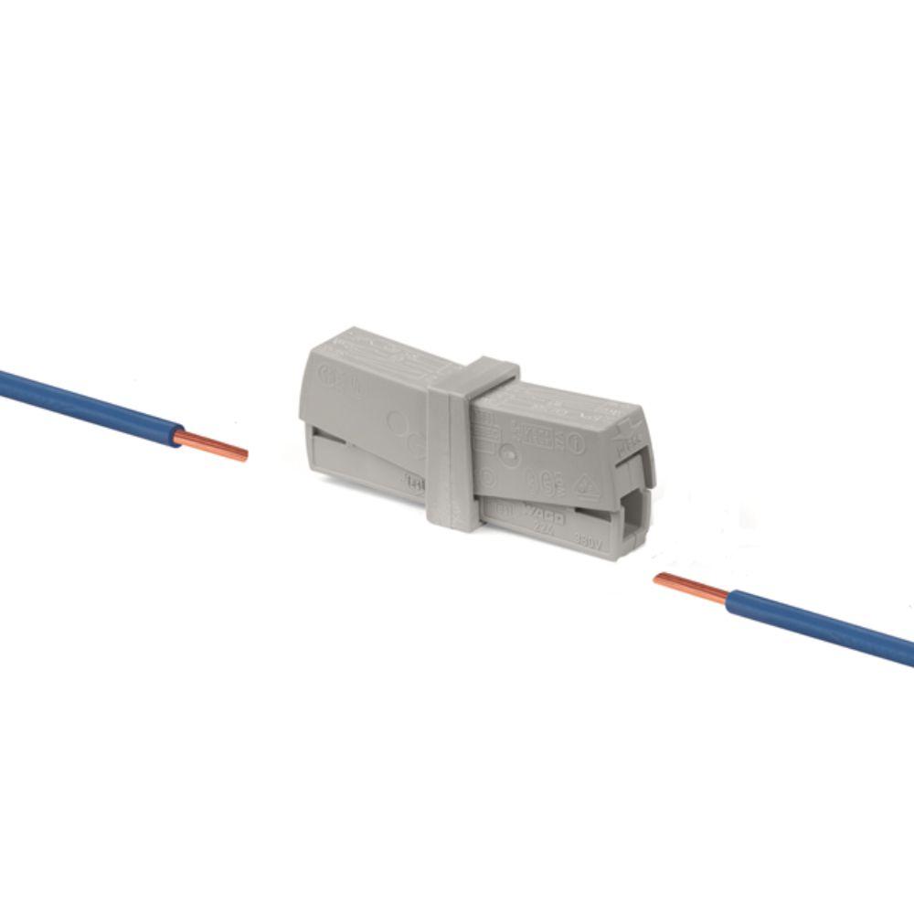 Kit 3 Conector Wago Emenda 2 Fios Mod. 224-201