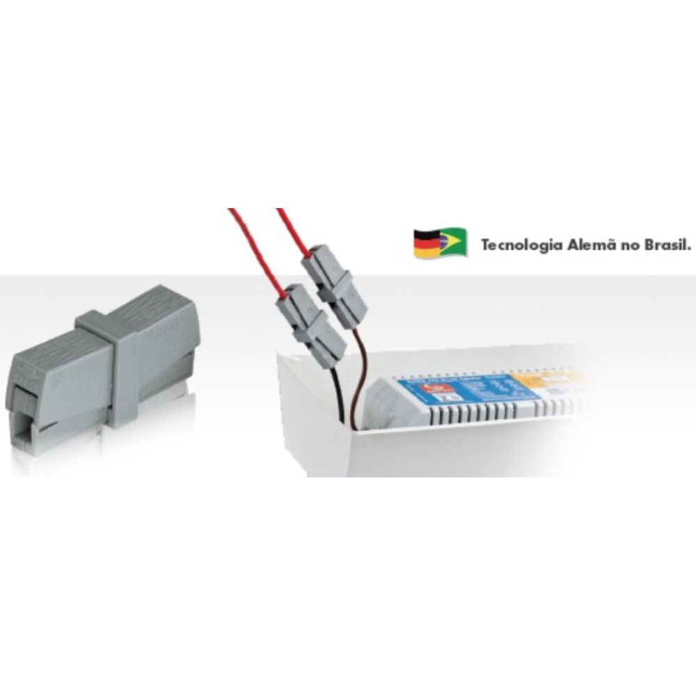 Kit 6 Conector Wago Emenda 2 Fios Mod. 224-201