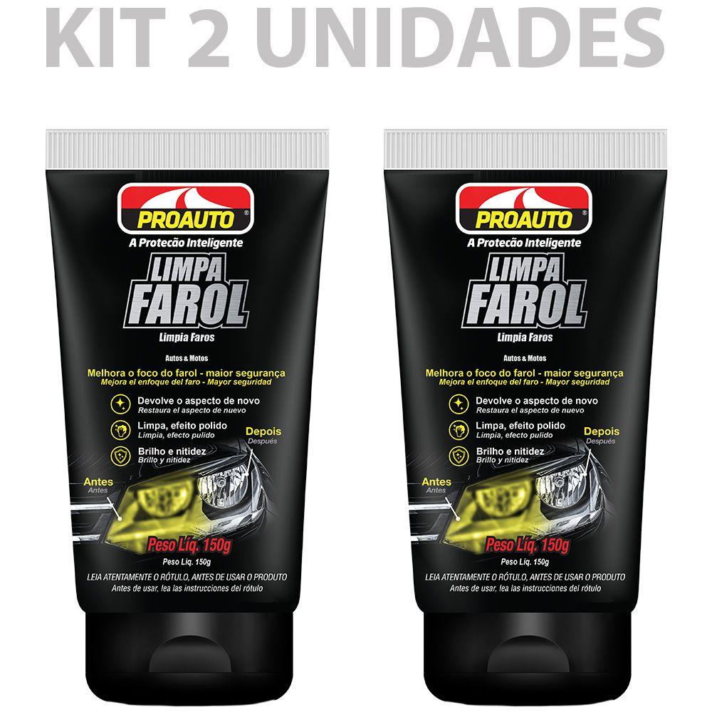 Kit C/2 Limpa Farol Polidor Proauto 150g