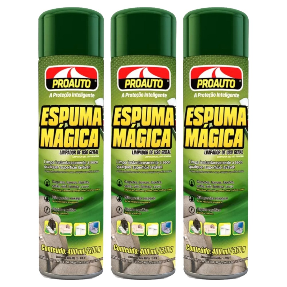 Kit C/3 Espuma Magica Proauto 400ml