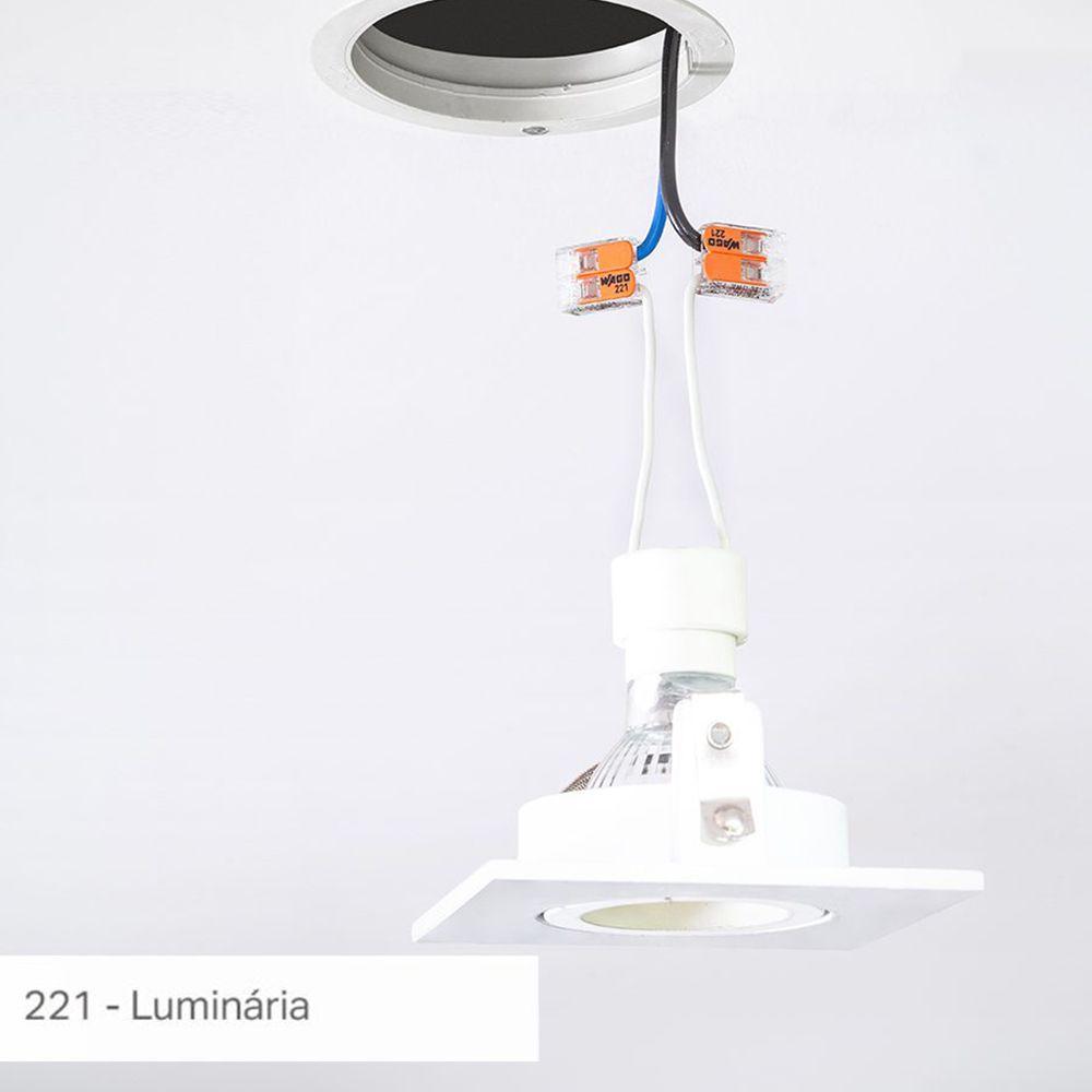 Kit Com 20 Conector Wago Emenda 2 Fios Mod 221-412