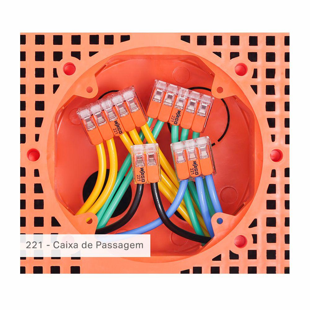 Kit Com 30 Conector Wago Emenda 5 Fios Mod 221-415