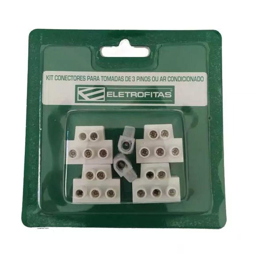 Kit Conectores Eletrofita 3 Pistas 20A EF18.9.18
