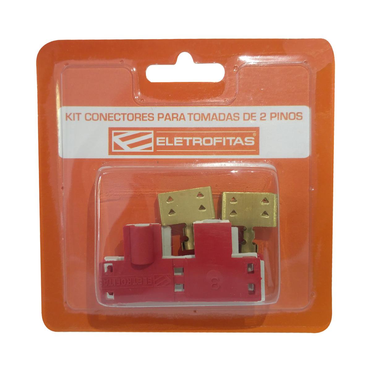 Kit Conectores Eletrofitas 2 Vias 20A - Novo