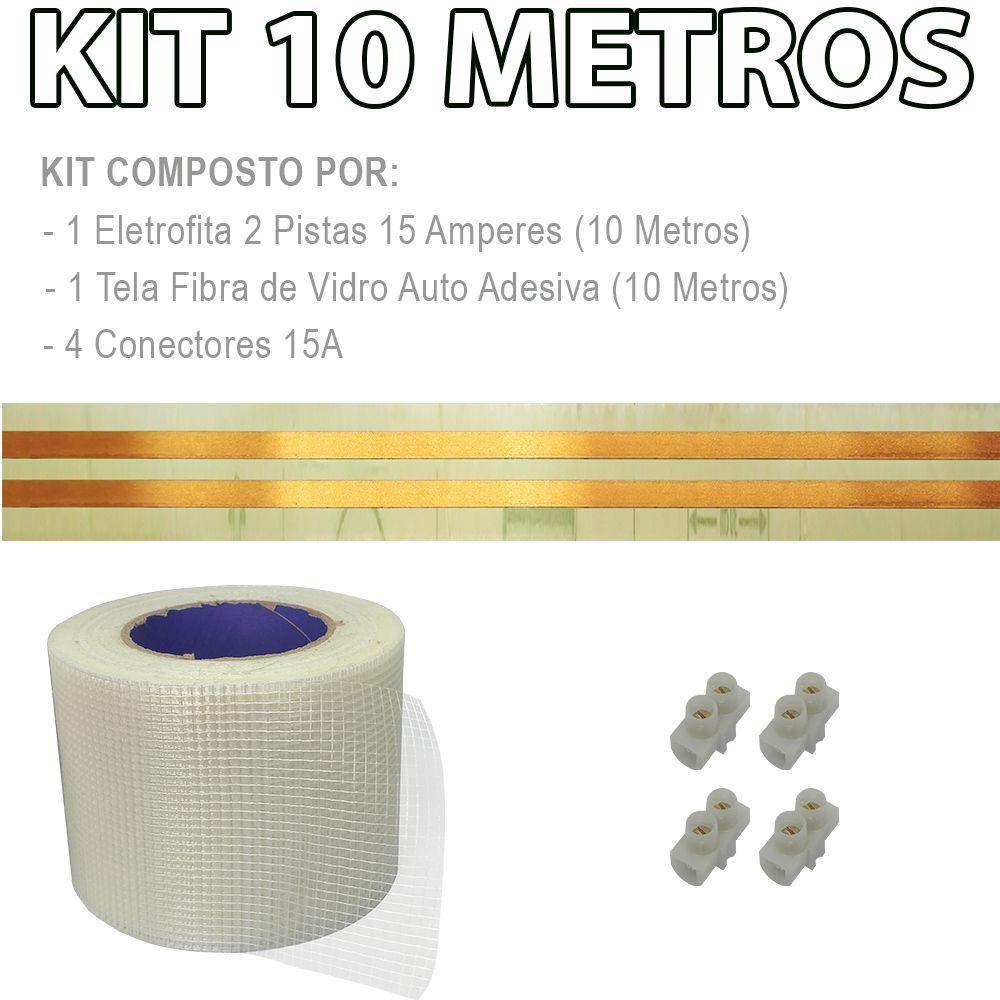 Kit Eletrofita 2 Pistas 10 Metros 750V 15A