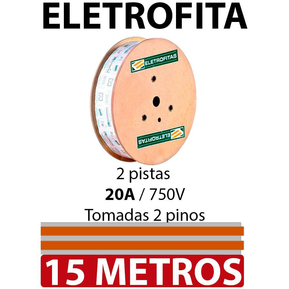 Kit Eletrofita 2 Pistas 15 Metros 750v 20a