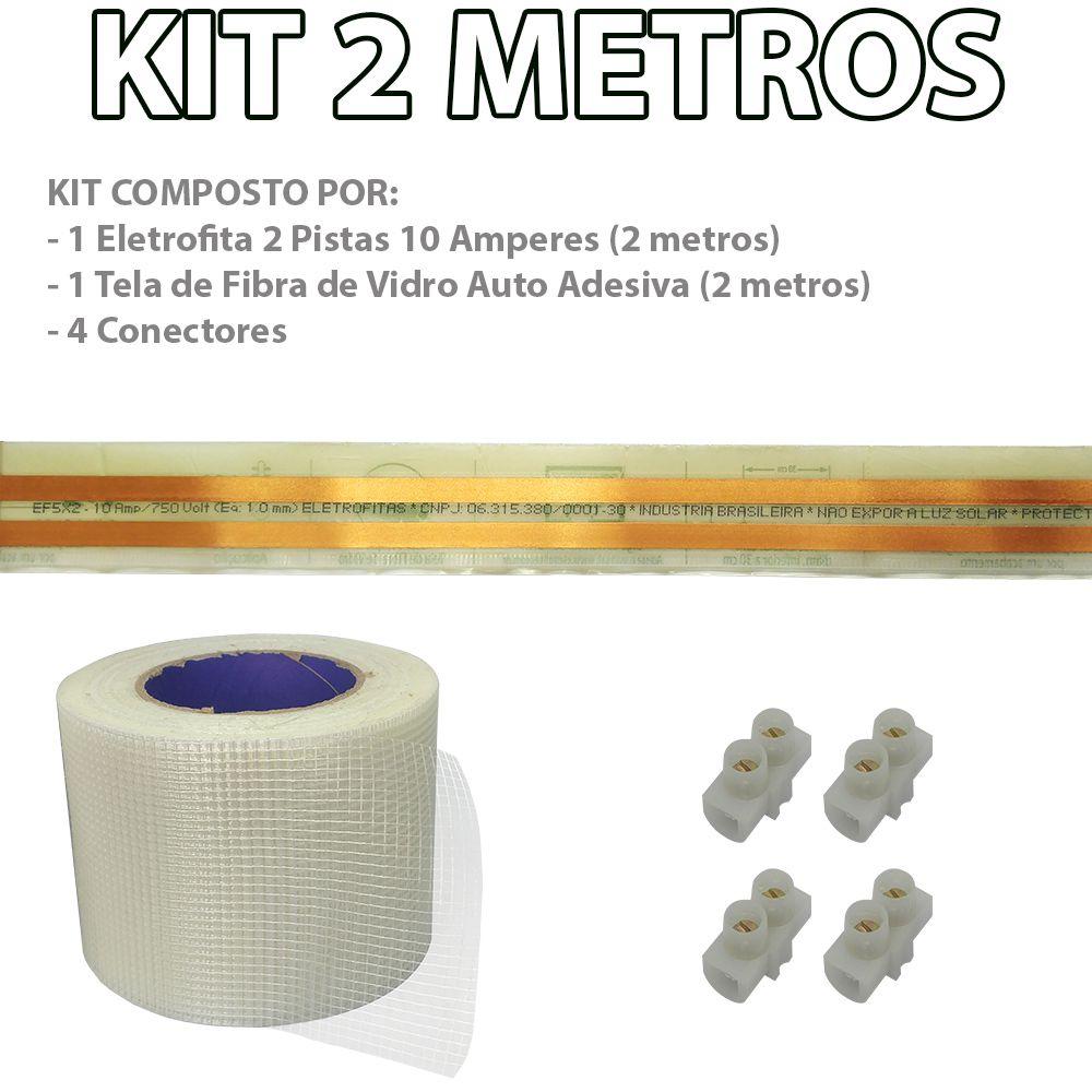 Kit Eletrofita 2 Pistas 2 Metros 750V 10A