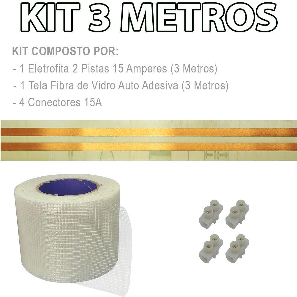 Kit Eletrofita 2 Pistas 3 Metros 750V 15A