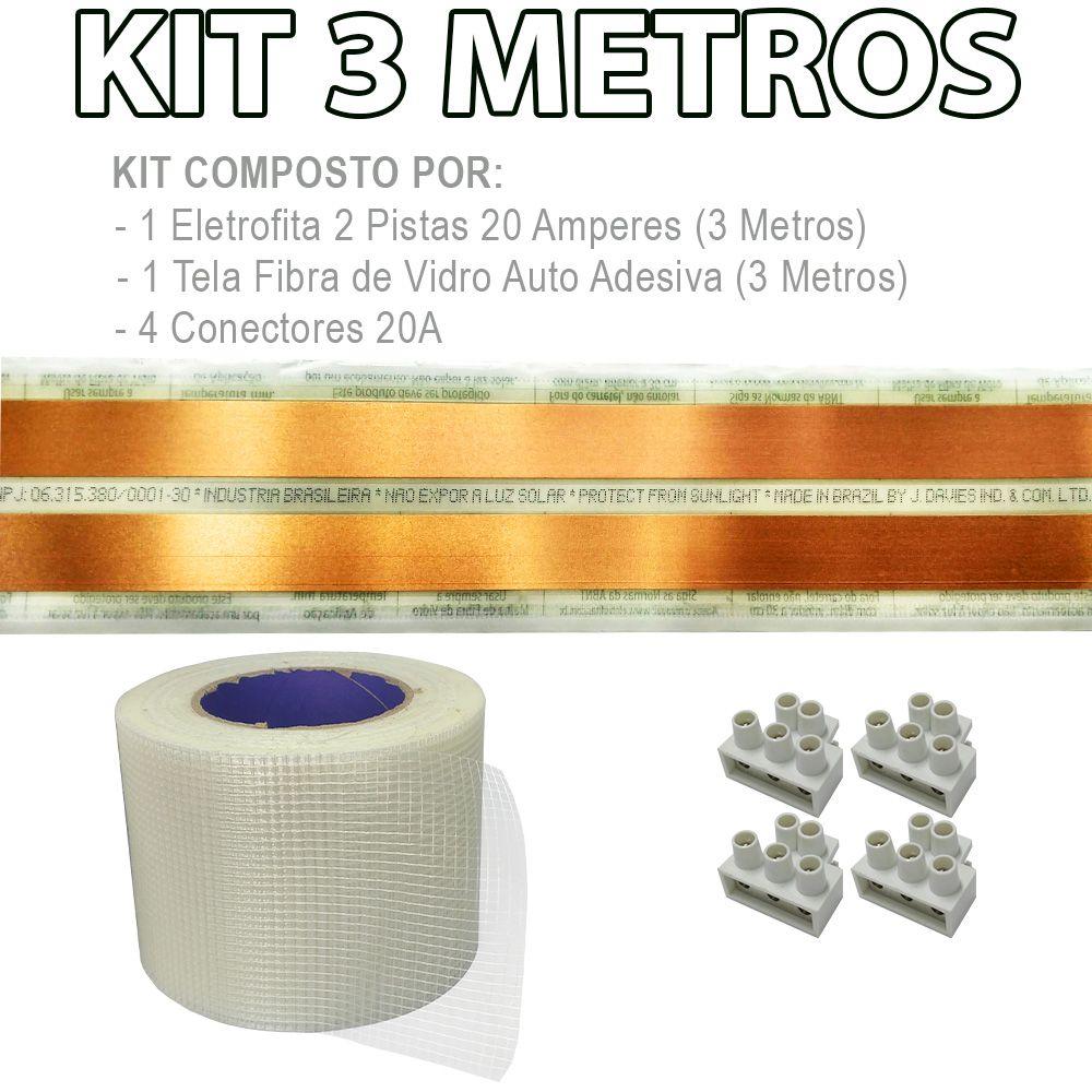 Kit Eletrofita 2 Pistas 3 Metros 750V 20A