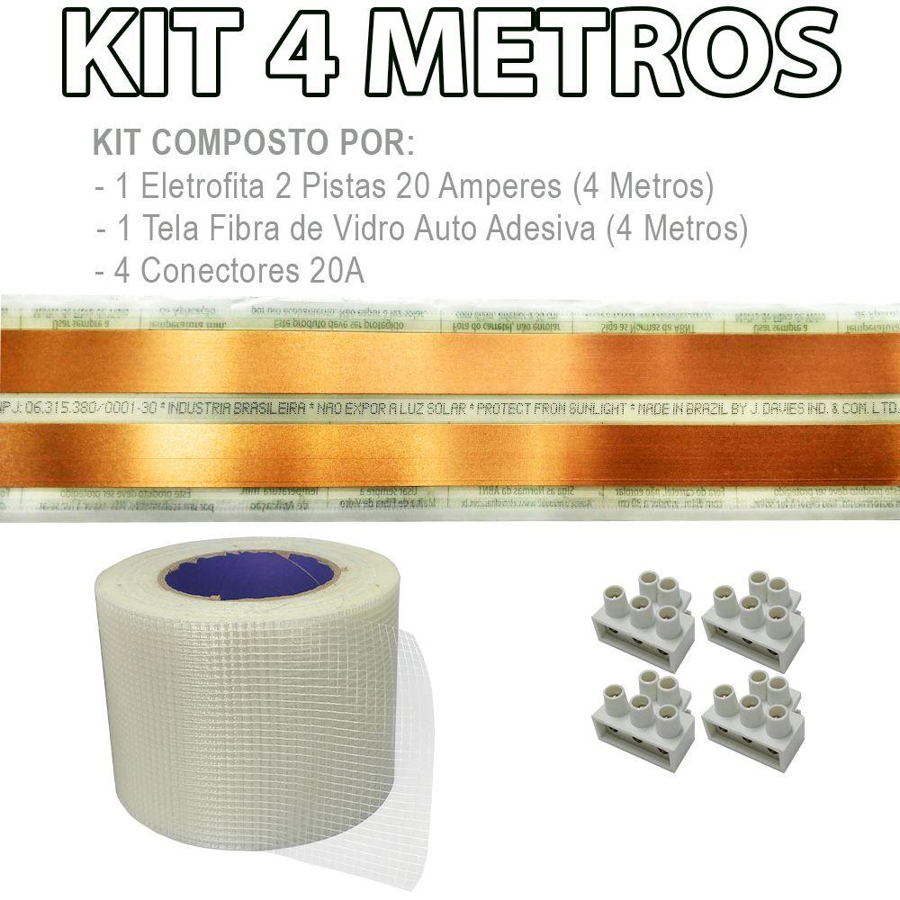 Kit Eletrofita 2 Pistas 4 Metros 750V 20A