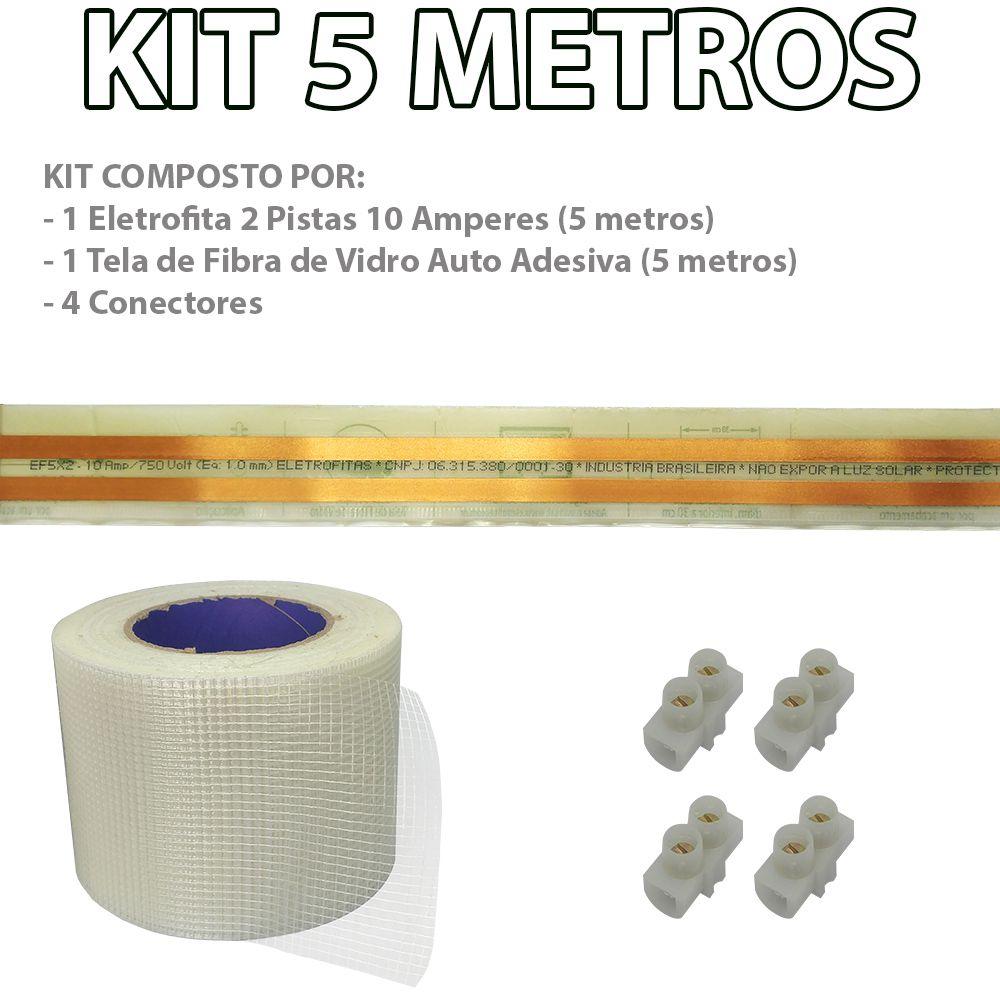 Kit Eletrofita 2 Pistas 5 Metros 750V 10A