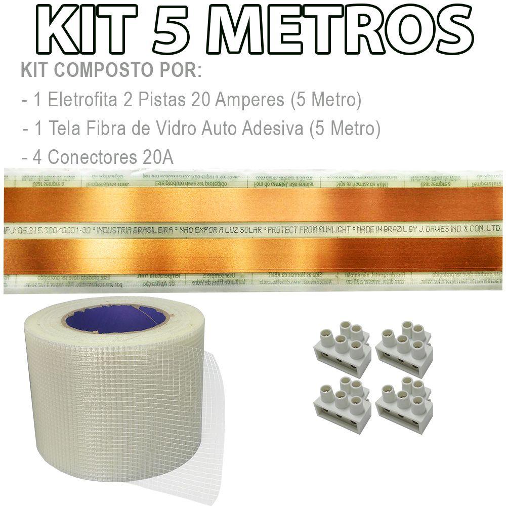 Kit Eletrofita 2 Pistas 5 Metros 750V 20A
