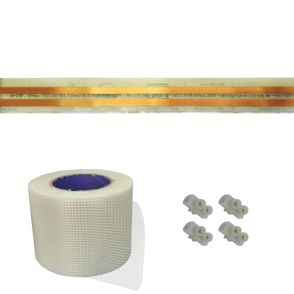 Kit Eletrofita 2 Vias 10a 7 Metros + 16 conectores