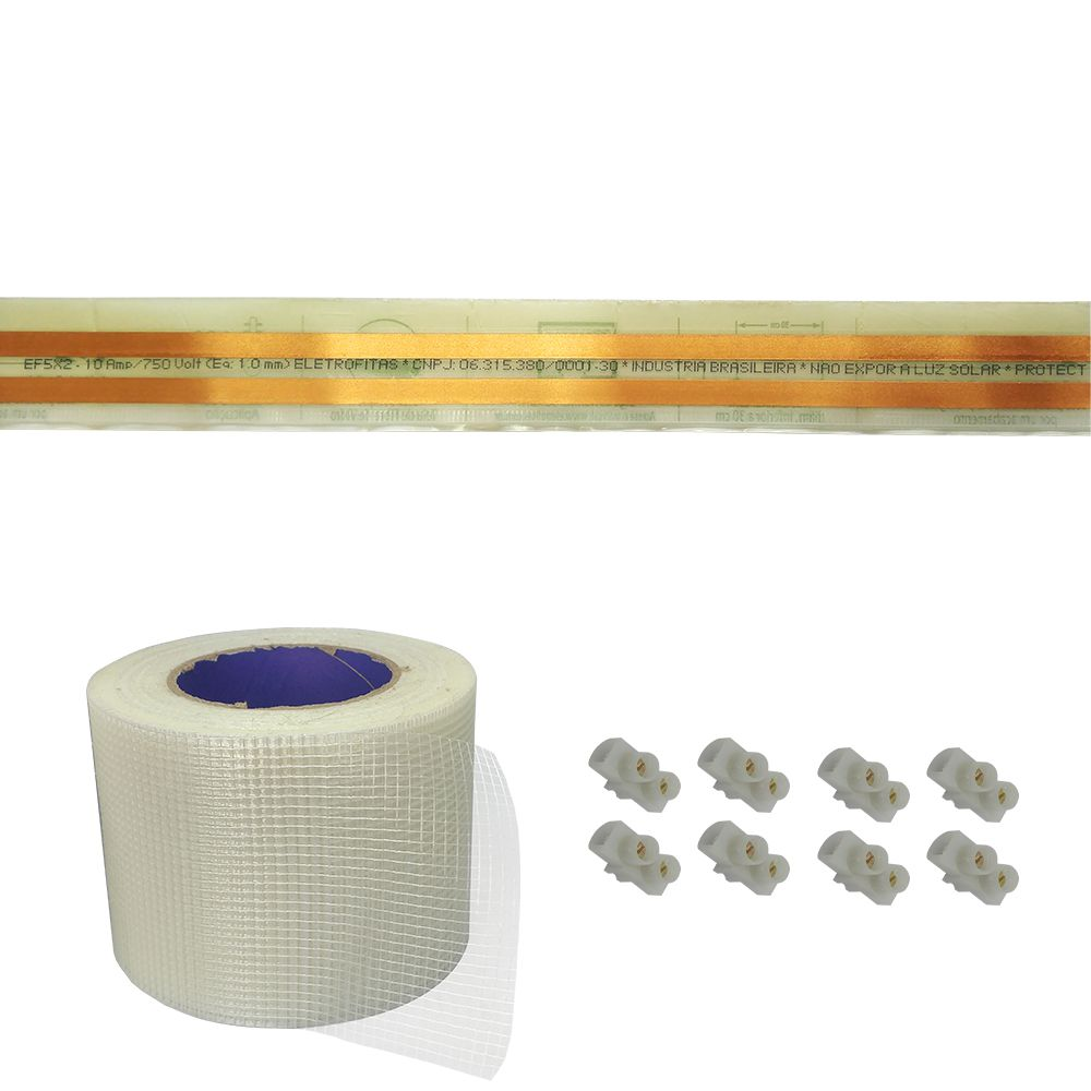 Kit Eletrofita 2 Vias 10a 9 Metros + 8 conectores