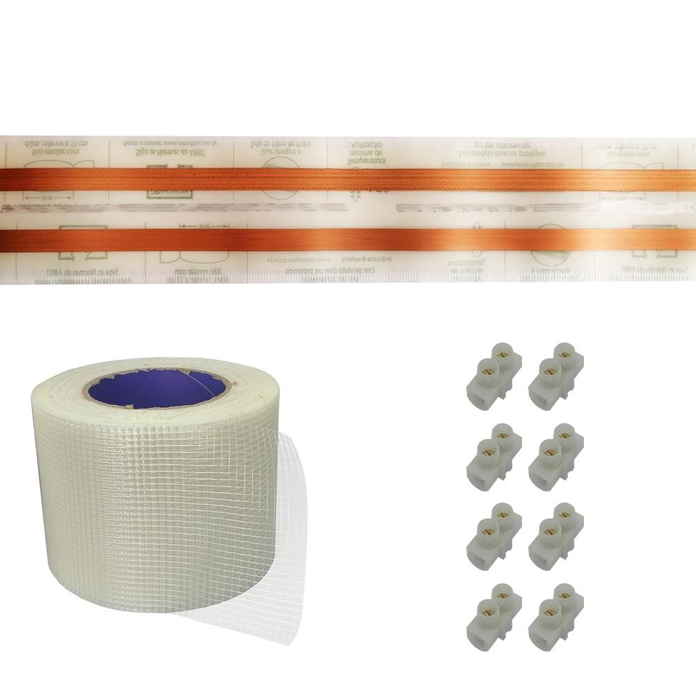 Kit Eletrofita 2 Vias 15a 5 Metros + 8 conectores