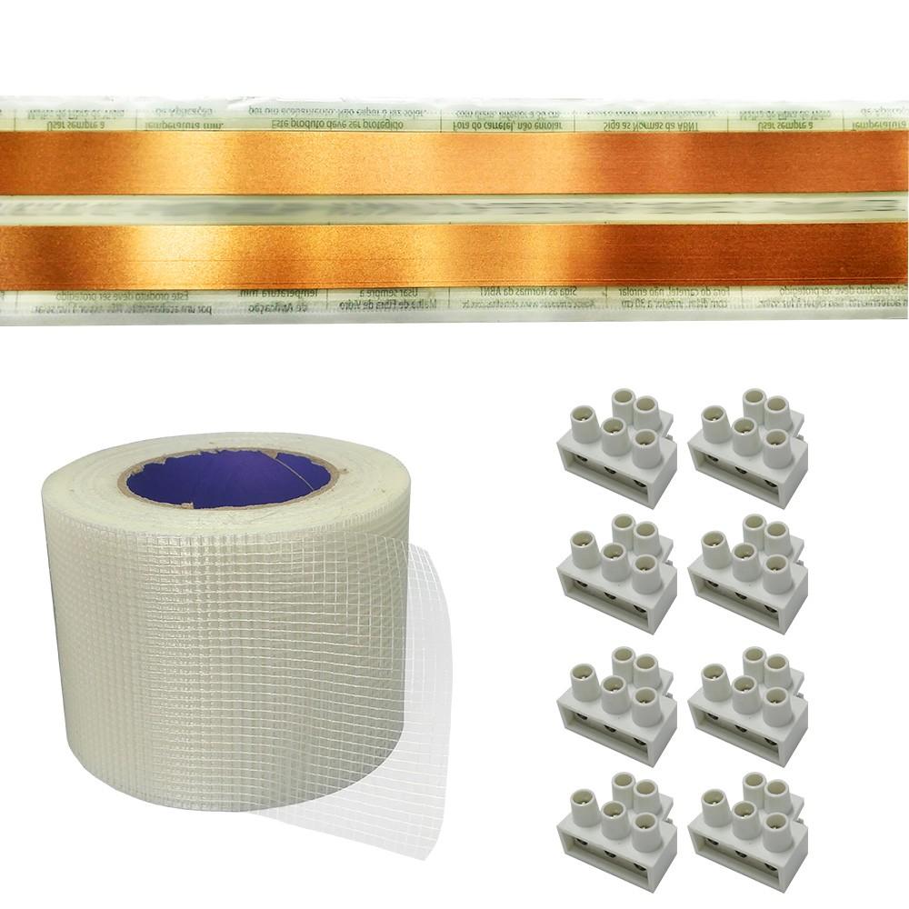Kit Eletrofita 2 Vias 20a 7 Metros + 8 conectores
