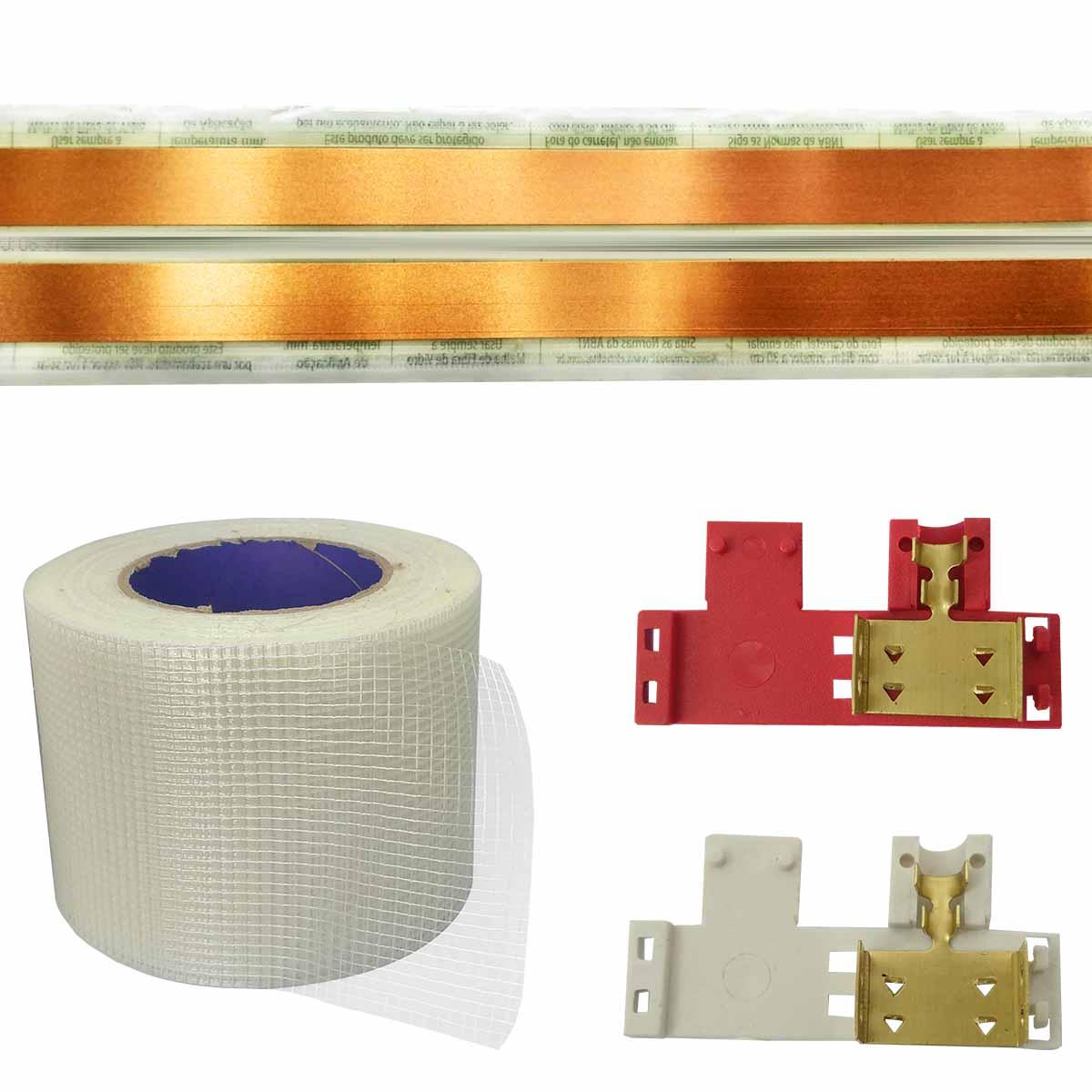Kit Eletrofita 2 Vias 7 Metros 20A + 12 Conectores