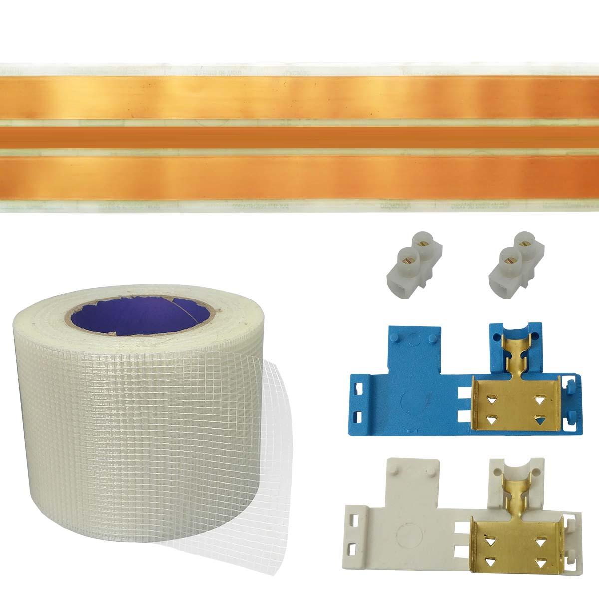 Kit Eletrofita 3 Pistas 15m 20A + Malha e Conector
