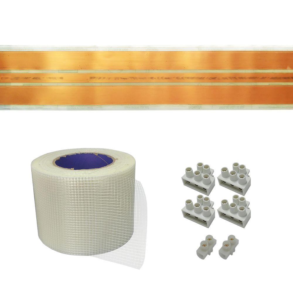 Kit Eletrofita 3 Pistas 7m 20A + Malha e 16 Conec 20A + 8 15A