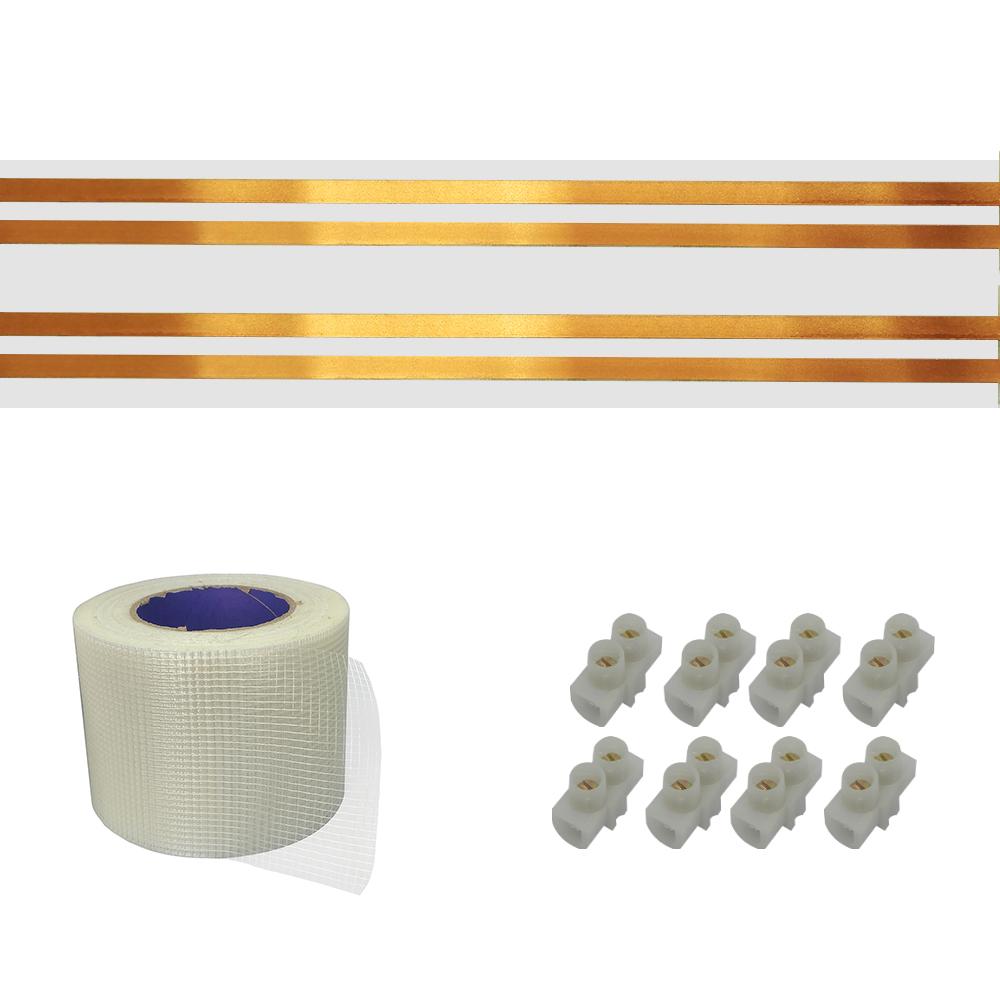Kit Eletrofita 4 Pistas 10a 12 Metros + Malha + 20 Conectores