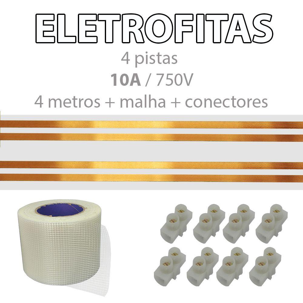 Kit Eletrofita 4 Pistas 2 Metros 750V 10A