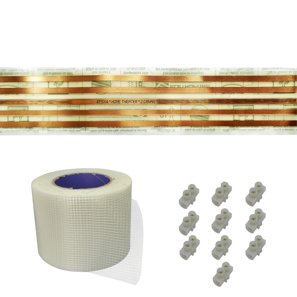 Kit Eletrofita 5 Pistas 1 Metro 750V 10A