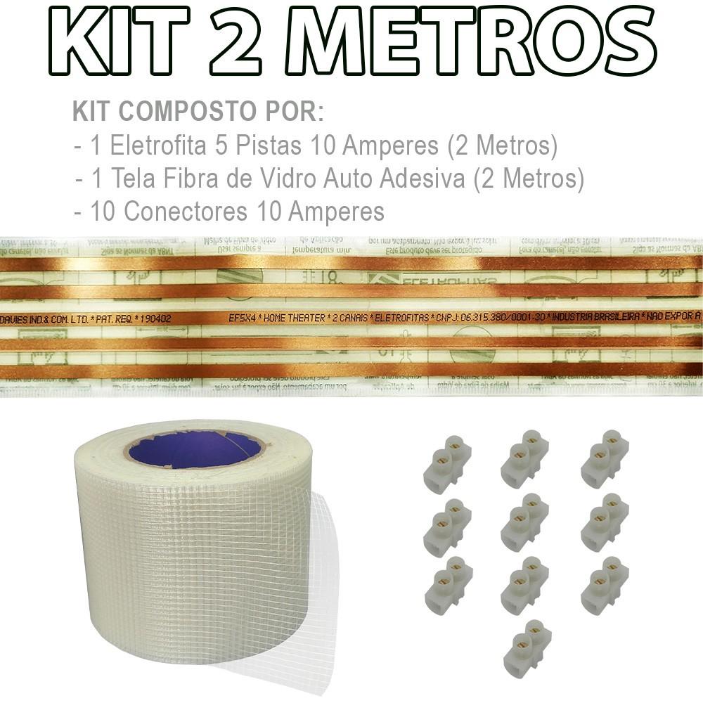 Kit Eletrofita 5 Pistas 4 Metros 750V 10A