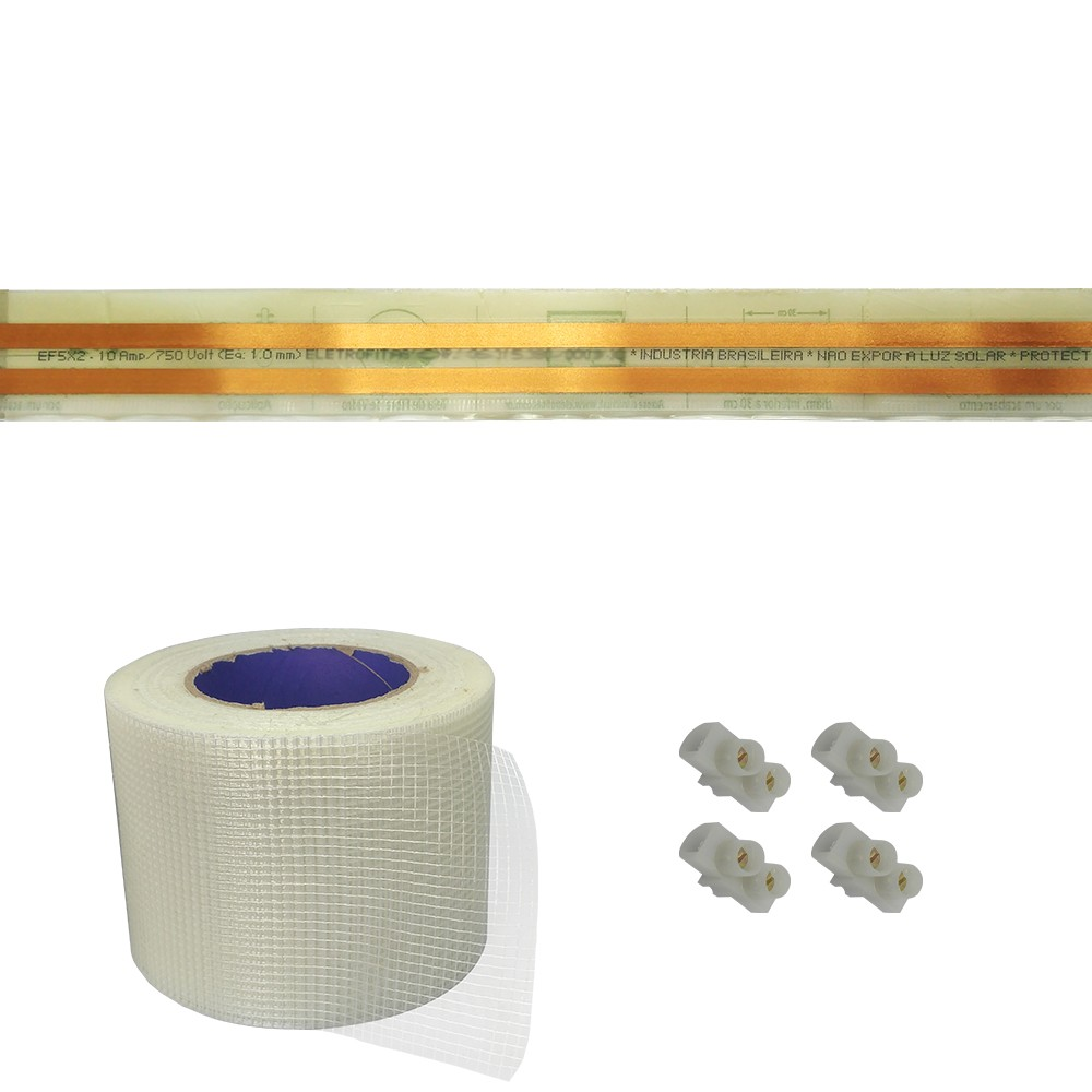 Kit Eletrofitas Pistas 10A 7 Metros + 20 conector