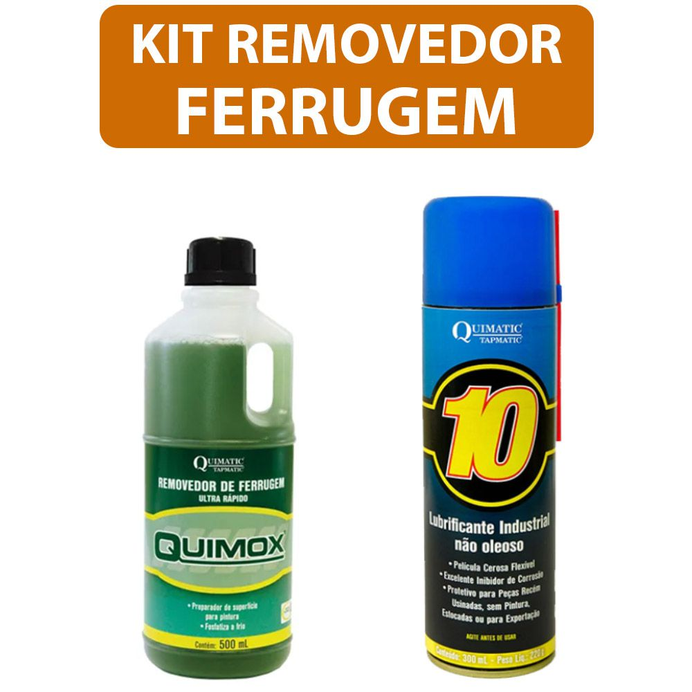 Kit Removedor Ferrugem