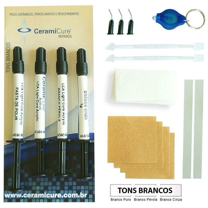 Kit Reparo Piso Ceramicure Tons Branco + Tons Marrom