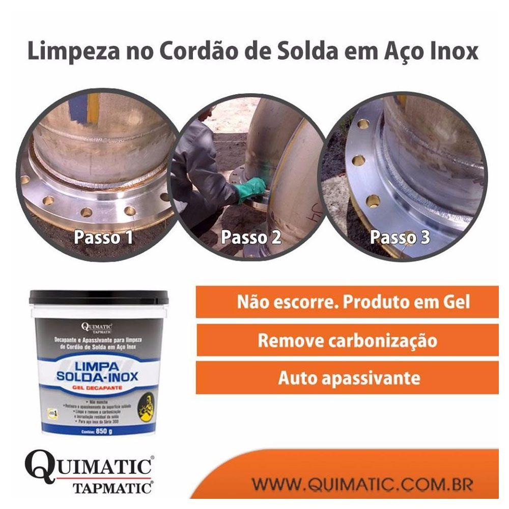 Limpa Solda Inox Gel Decapante Quimatic 850g