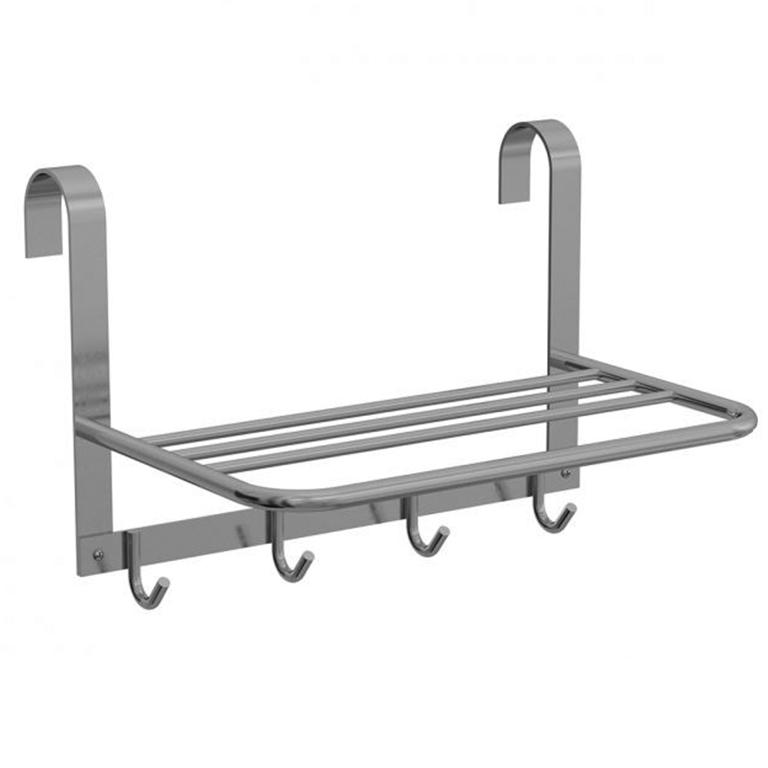 Porta Toalha Box Triplo 4 Cabides Alumínio Cromado - Sicmol