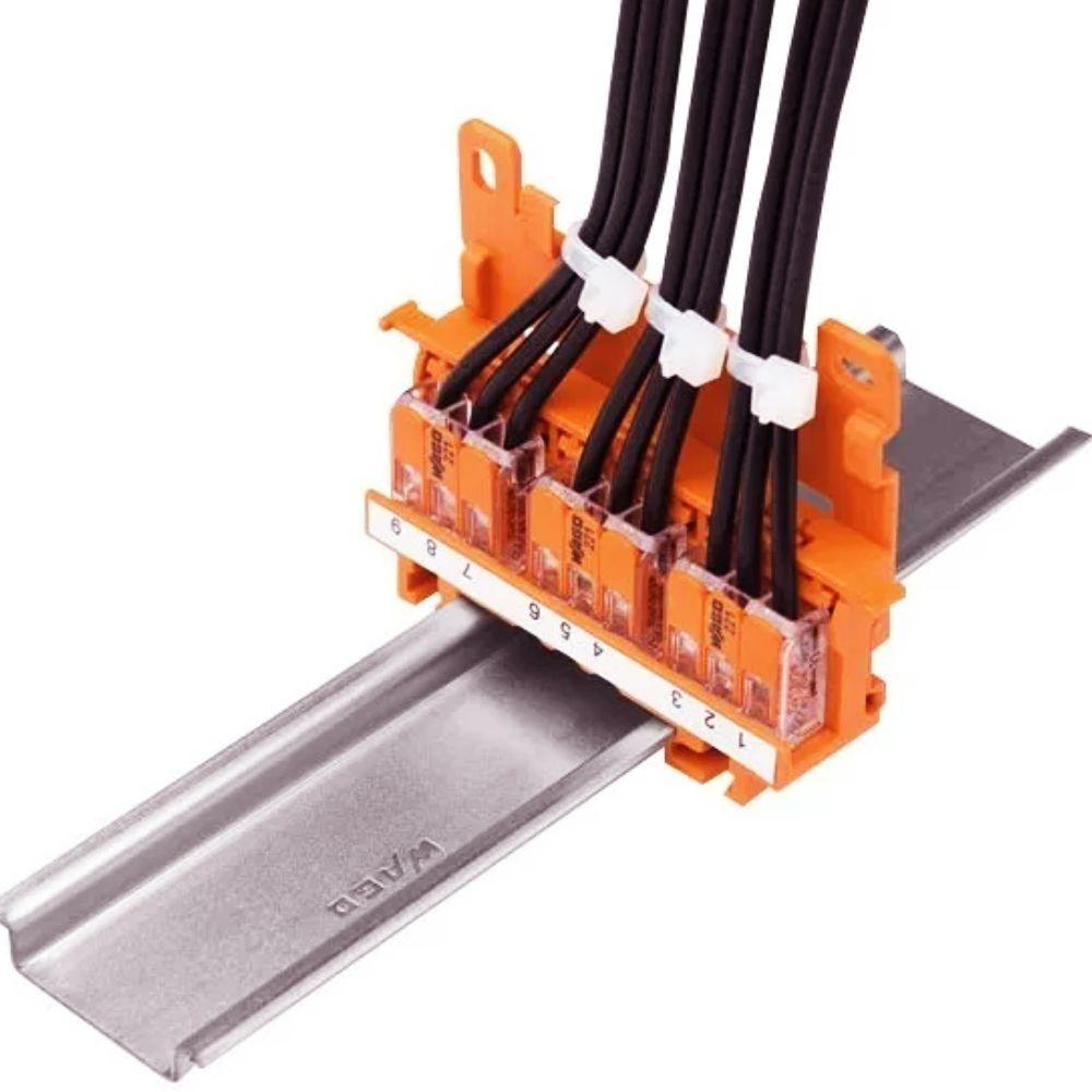 Suporte Fixação Trilho Conector Wago 4mm 221-500