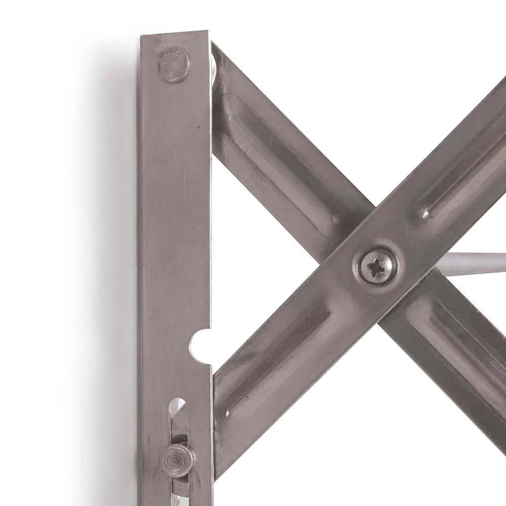 Varal de Parede Sanfonado Aluminio Mor 80 cm