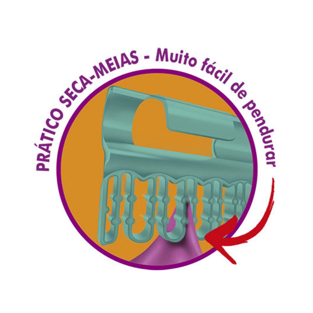 Varal de Teto Aço Secalux Monaco 1m