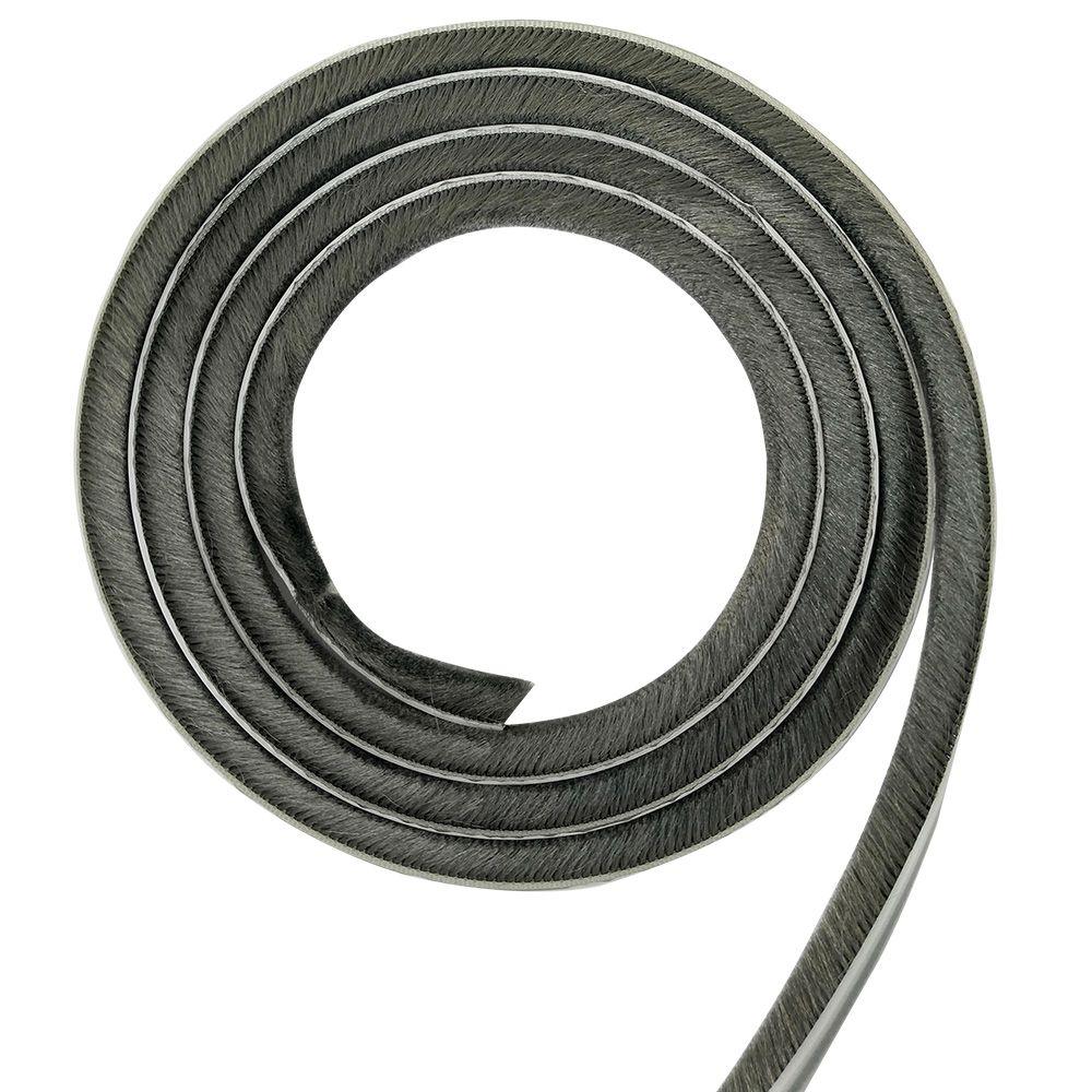 Veda Frestas Escova Adesivo Porta Janela 10mm 5mts