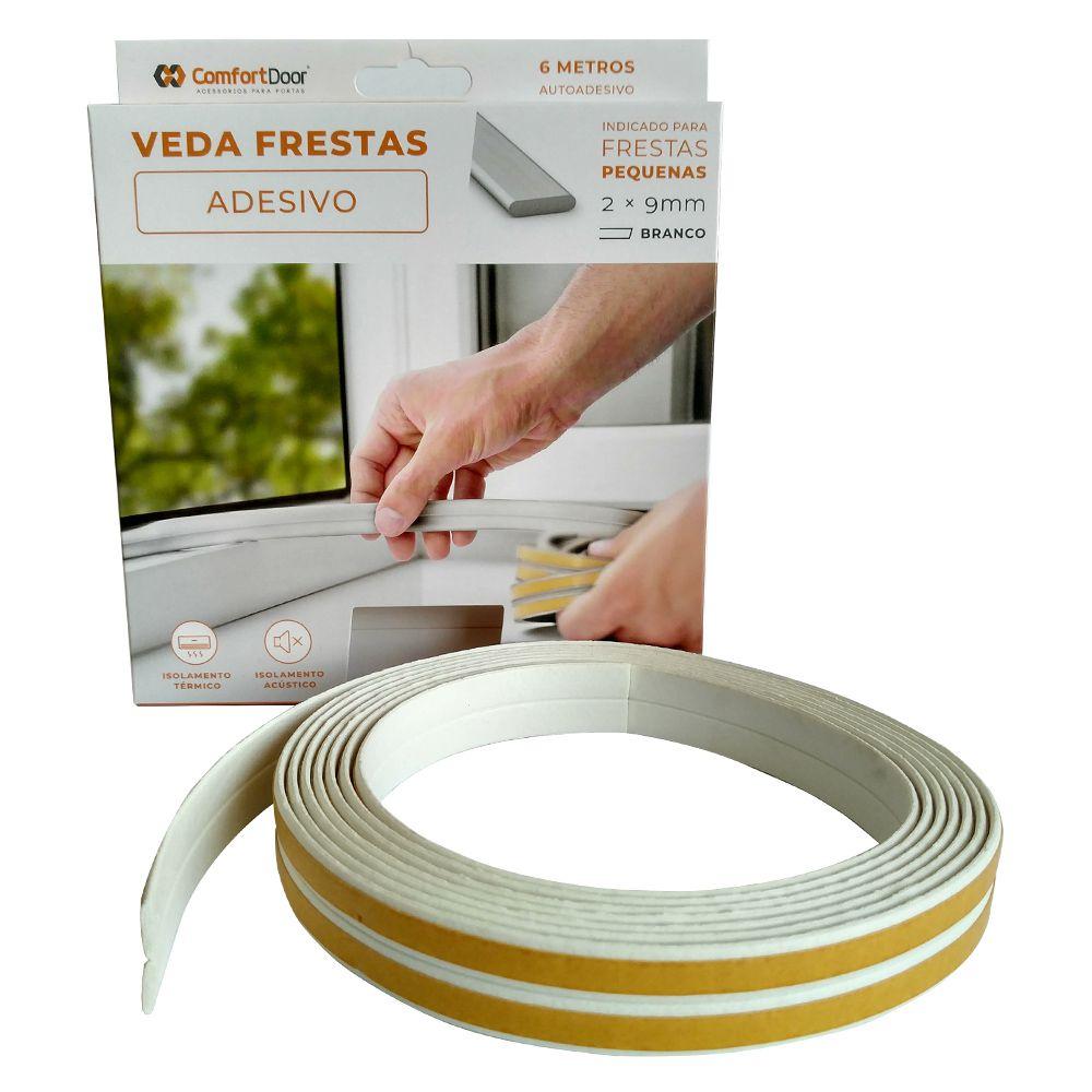 Veda Frestas Janela Porta 2mm Comfort Door - 6 Metros