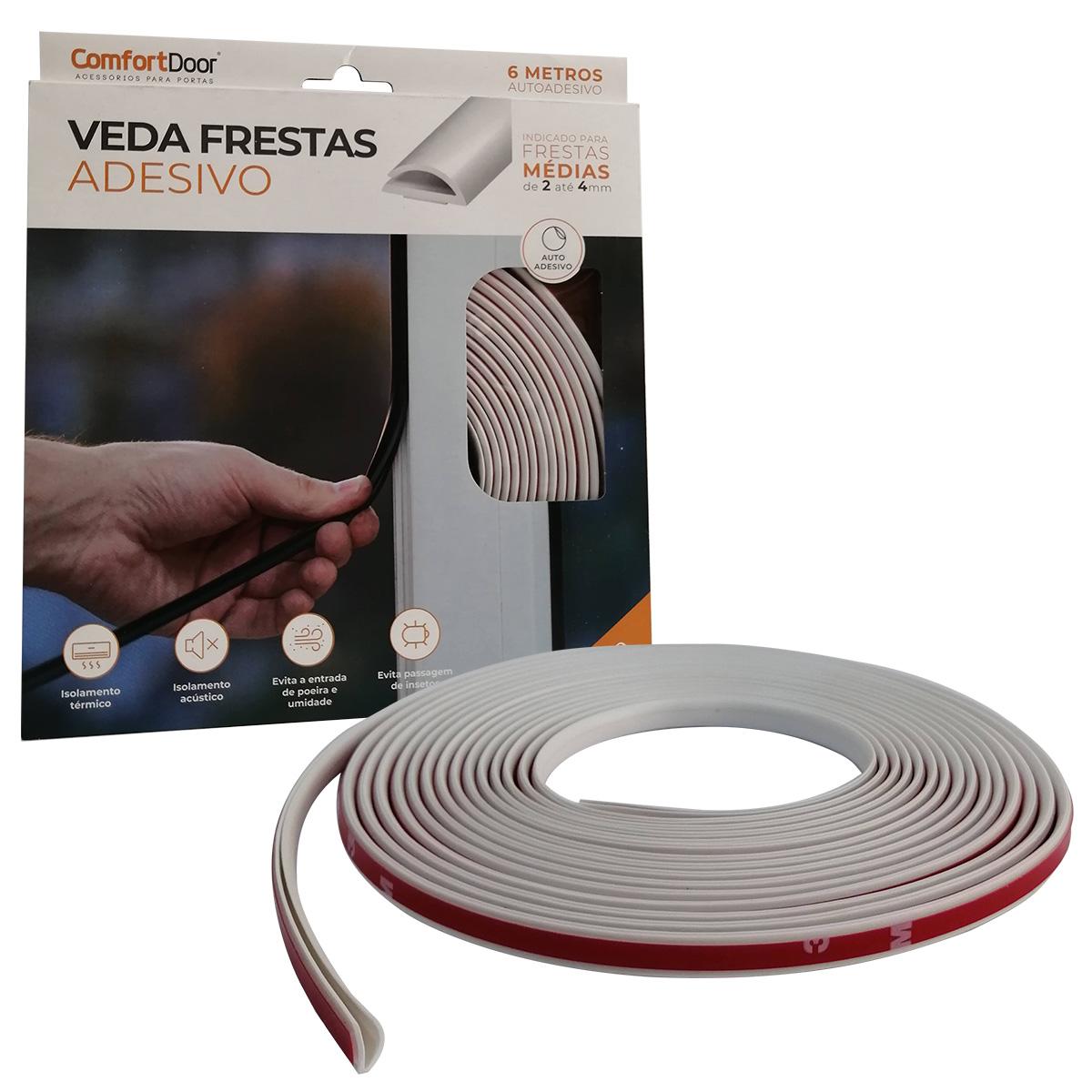 Veda Frestas Janela Porta 4x8mm Comfort Door - 6 Metros