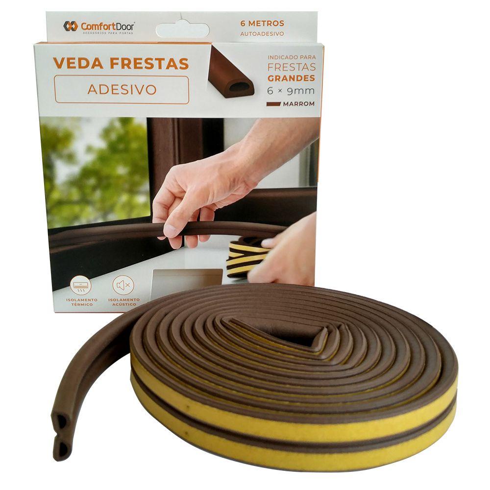 Veda Frestas Janela Porta 6mm Comfort Door - 6 Metros