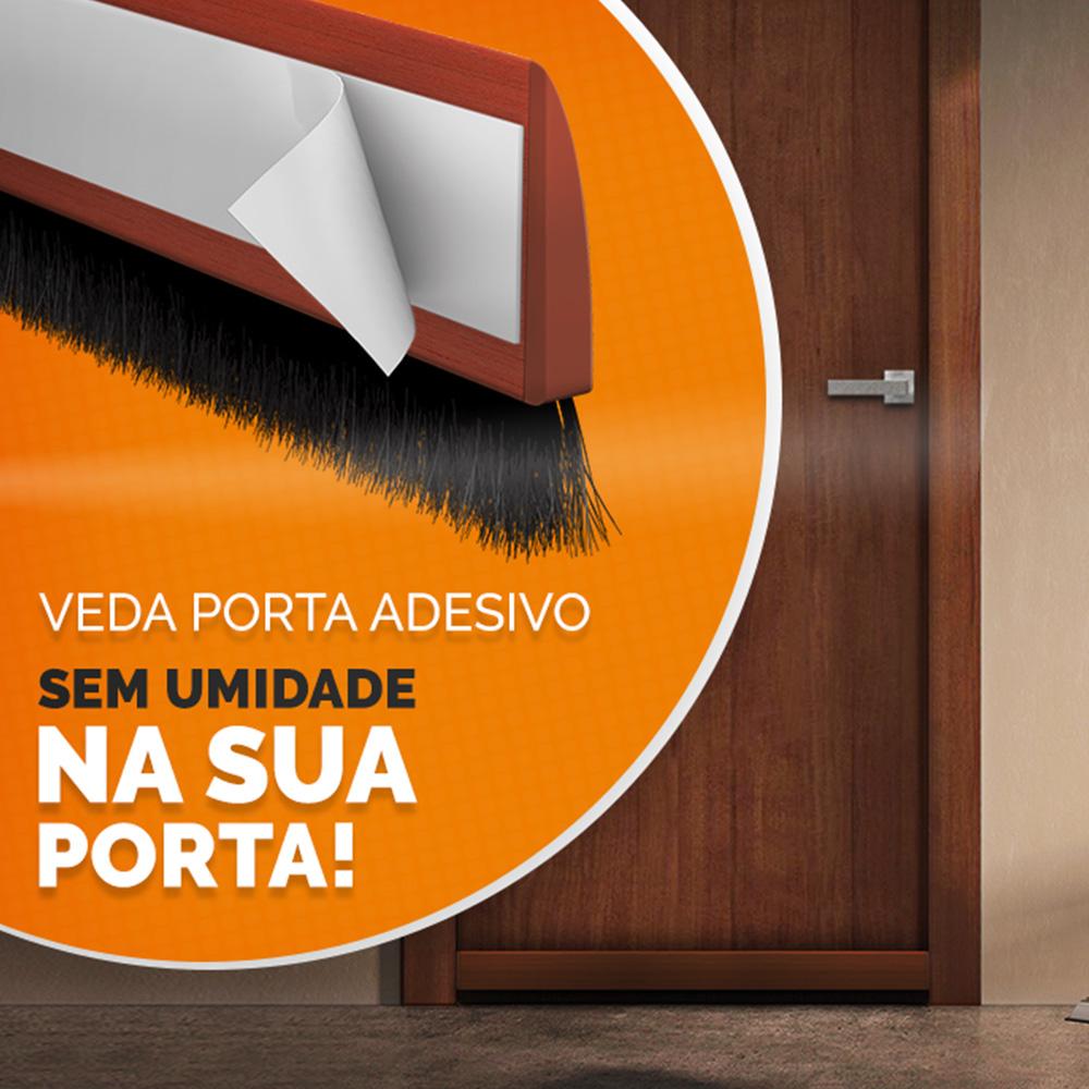 Veda Porta Escova Comfort Door C/ Adesivo 1,30 metros